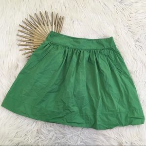 Banana Republic Green Circle Skirt